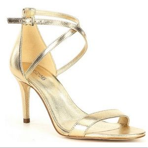 MICHAEL Michael Kors Ava Metallic Leather Heels